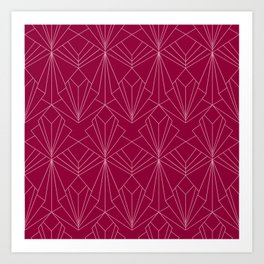 Art Deco in Raspberry Pink Art Print
