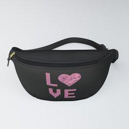 Love Heart Digital Love for nerds or pixel digital Fanny Pack
