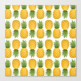 Pineapple Pattern Canvas Print