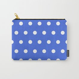 Dots on royal blue Carry-All Pouch