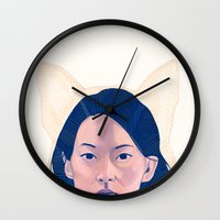 kitsune Wall Clocks featuring Kitsune by days & hours