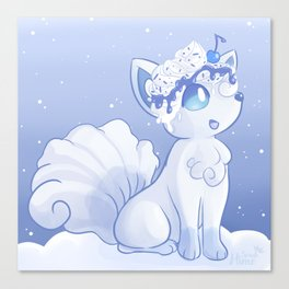Snow Fox Canvas Print