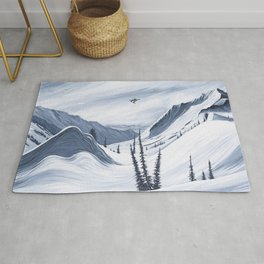 'Chads Gap' Iconic Snowboarding Moments Rug