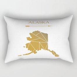 Alaska In Gold Rectangular Pillow