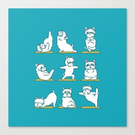 West Highland Terrier Yoga Canvas Print