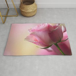 Phenomenal Awesome Pink Rose Blossom Close Up Ultra HD Rug