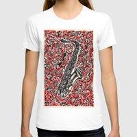 saxophone T-shirts featuring Saxophone by Matt Larsen