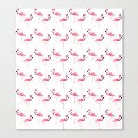 flamingo Canvas Prints featuring Flamingo by Vickn