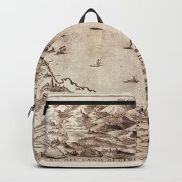 Map Of Lake Geneva 1590 Backpack