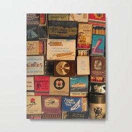 Once In A Blue Sea... A Ship Like Shalom - Zim Matchbox Metal Print