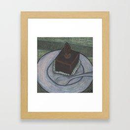 Chocolate Cake Framed Art Print