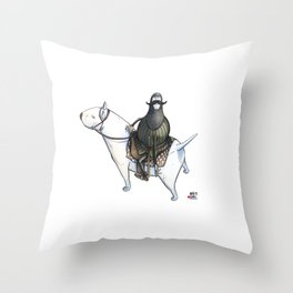Numero 0 -Cosi che cavalcano Cose - Things that ride Things- Throw Pillow