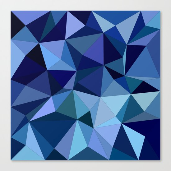 Blue triangles Canvas Print
