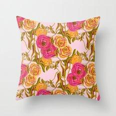 Ranunculus Garden Throw Pillow