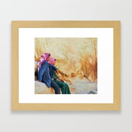 Watching the Time Pass by Framed Art Print