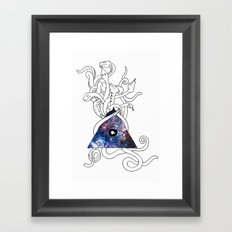 Space Snakes Framed Art Print