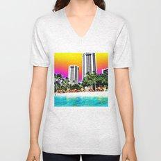 Waikiki Beach Unisex V-Neck
