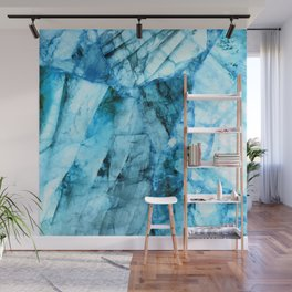 Blue crystal Wall Mural