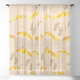 Beach Sheer Curtain