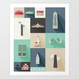 Chicago Landmarks Art Print