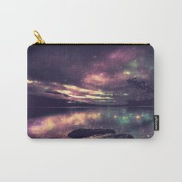 Magical Mountain Lake : Eggplant Teal Carry-All Pouch