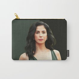 Sarah Silverman - Celebrity -  Oil Paint Art Carry-All Pouch