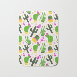 Cactus Pattern of Succulents Bath Mat