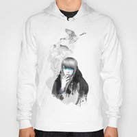 lady gaga Hoodies featuring Swan Love by Ariana Perez