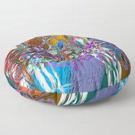 pink installation Floor Pillow