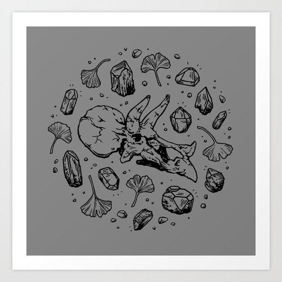Triceratops Rocks! | Black by omegafauna