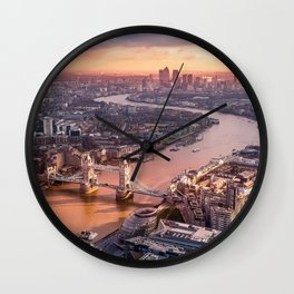 London view from above Wall Clock