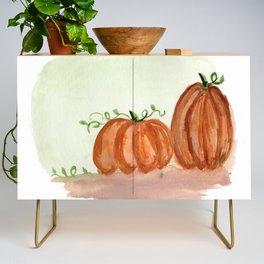 Fall Pumpkins Credenza