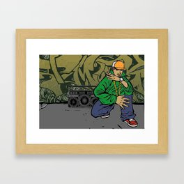 Street rapper Framed Art Print