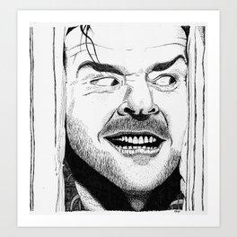 HERE'S JOHNNY! Art Print