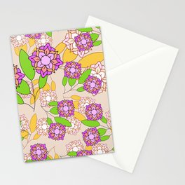 Simple geometric bloom Stationery Cards