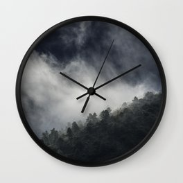 """""""Memories..."""" Into the foggy mountains Wall Clock"""