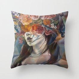 Midnight Muse Throw Pillow