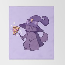 Kitty Wizard Throw Blanket