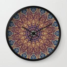 Mandala Water Wall Clock