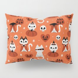Halloween Kitties (Orange) Pillow Sham