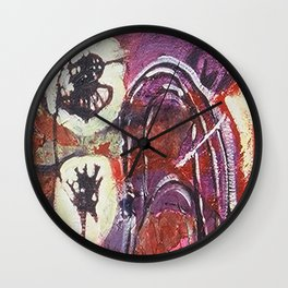 We Float Freely Above the Clouds Wall Clock