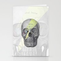 aladdin Stationery Cards featuring Aladdin Sane Skull by Computarded