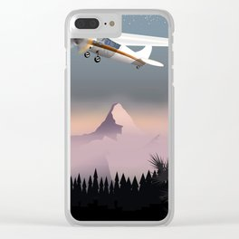Vintage flight cartoon poster Clear iPhone Case