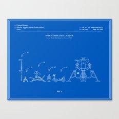 Space Lander Patent - Blueprint Canvas Print