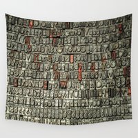 letters Wall Tapestries featuring Letters by Sébastien BOUVIER