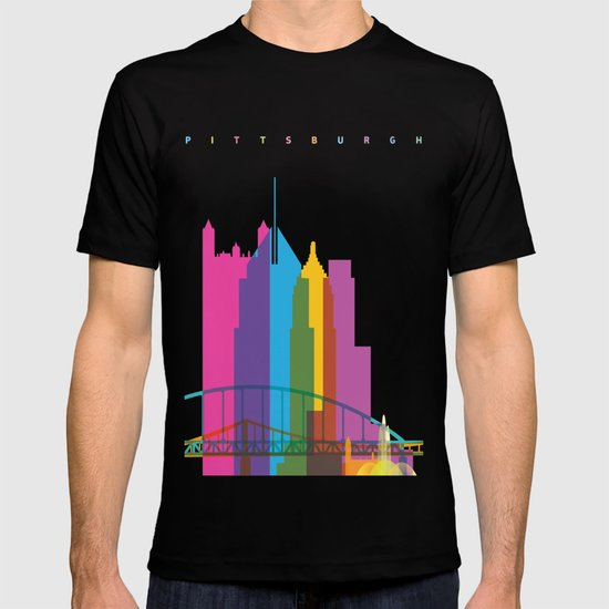 Shapes of Pittsburgh. Accurate to scale T-shirt