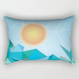 Landscape - geomertic work Rectangular Pillow