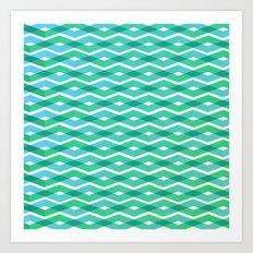 Diamonds in the sea Art Print