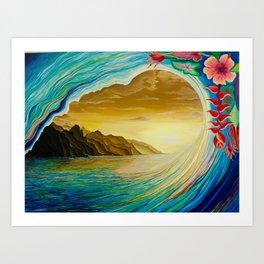 Hawaii Sundowner Art Print