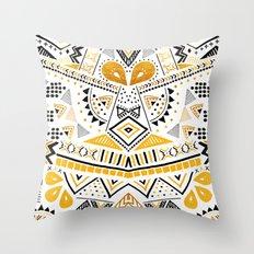 Tribal Festival Noir Throw Pillow